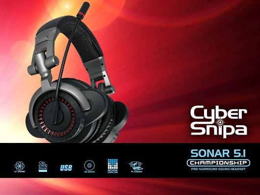 Cyber Snipa 5.1 Surround Sound Headset