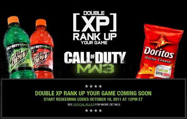 Drink Mountain Dew, Earn Double XP In Modern Warfare 3
