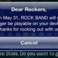 Rock Band For The iOS Will Burn Out At The End Of May