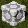 The Weighted Companion Cube Subwoofer