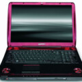 Toshiba Qosmio Premium Gaming Laptop in bright pink